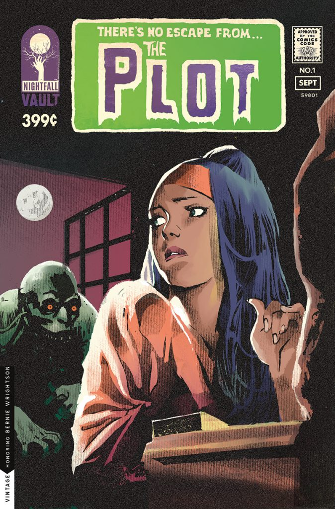 The Plot #1 variant cover by Nathan Gooden.